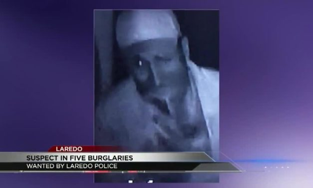 Laredo Police on the hunt for a man connected to five different burglaries