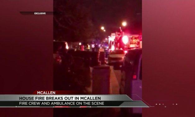 House in Flames in McAllen