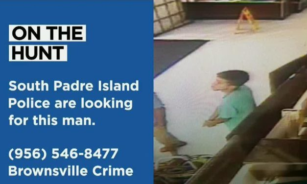 Two men caught on surveillance footage stealing jewelry at a South Padre Island business