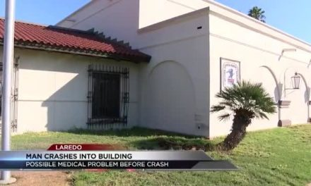 Man experienced a Medical Emergency while driving and wrecks into building