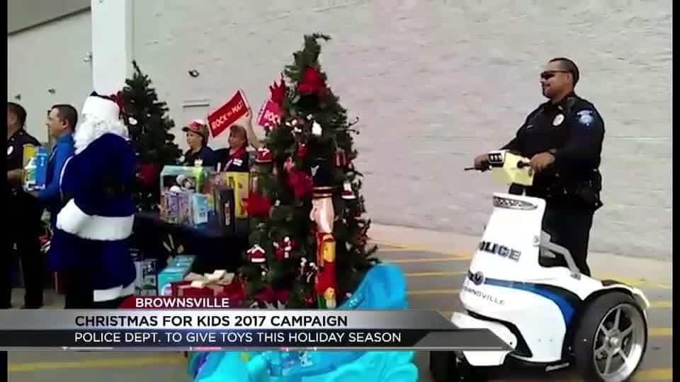 Brownsville Police kick off Christmas for Kids 2017 Campaign