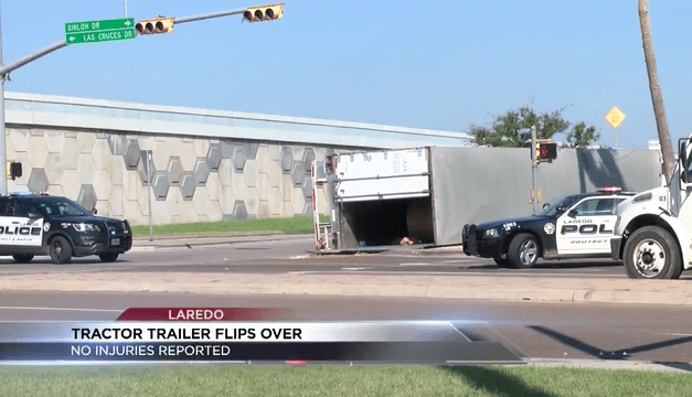 Tractor trailer accident in Laredo causes major delays on Friday