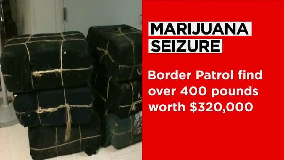Laredo Border Patrol seize over 400 pounds of marijuana