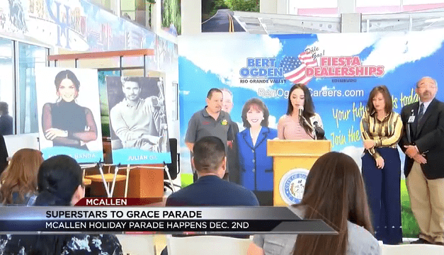 Mcallen announces line up of celebrities at annual Holiday Parade