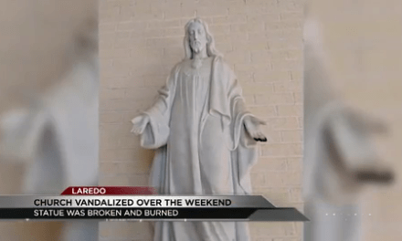 Statue of Jesus vandalized over the weekend in Laredo