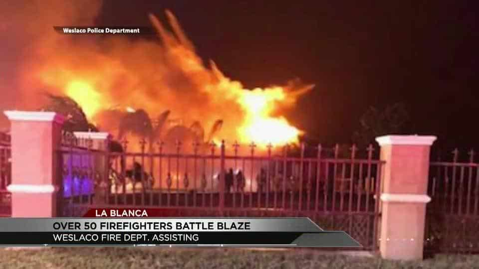 Over 50 Firefighters Fight Blaze Near La Blanca