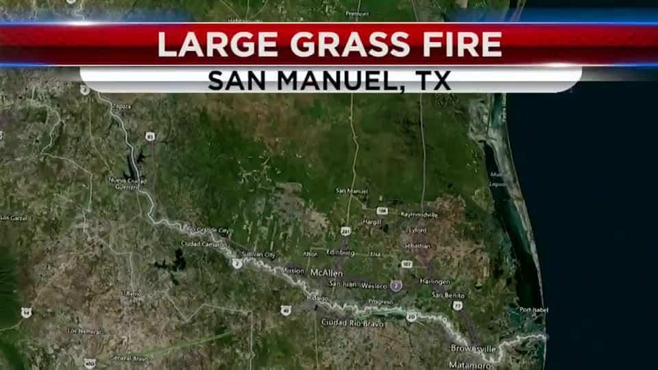 Grass Fire in San Manuel Spreads