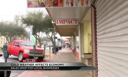 Sales Freeze Due To Cold Weather in Downtown McAllen