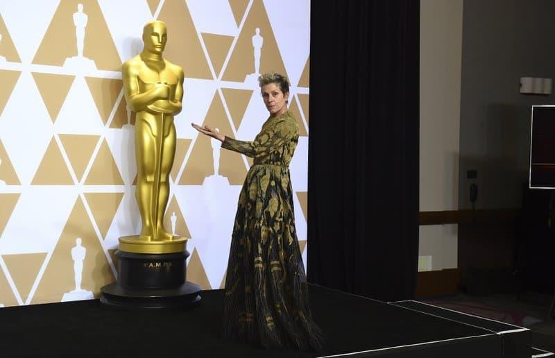 Man arrested after stealing Frances McDormand's Oscar trophy