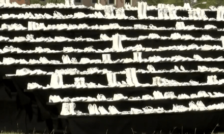 "TxDOT Brings Seat belt Awareness Through ""Ghost Shoes"" Display"