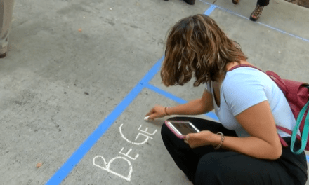 "Successful ""Chalk About It"" Mental Health Awareness Event at Webb Co. Courthouse"