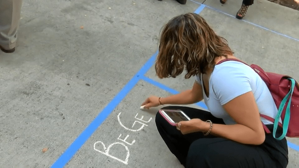 """Successful """"Chalk About It"""" Mental Health Awareness Event at Webb Co. Courthouse"""