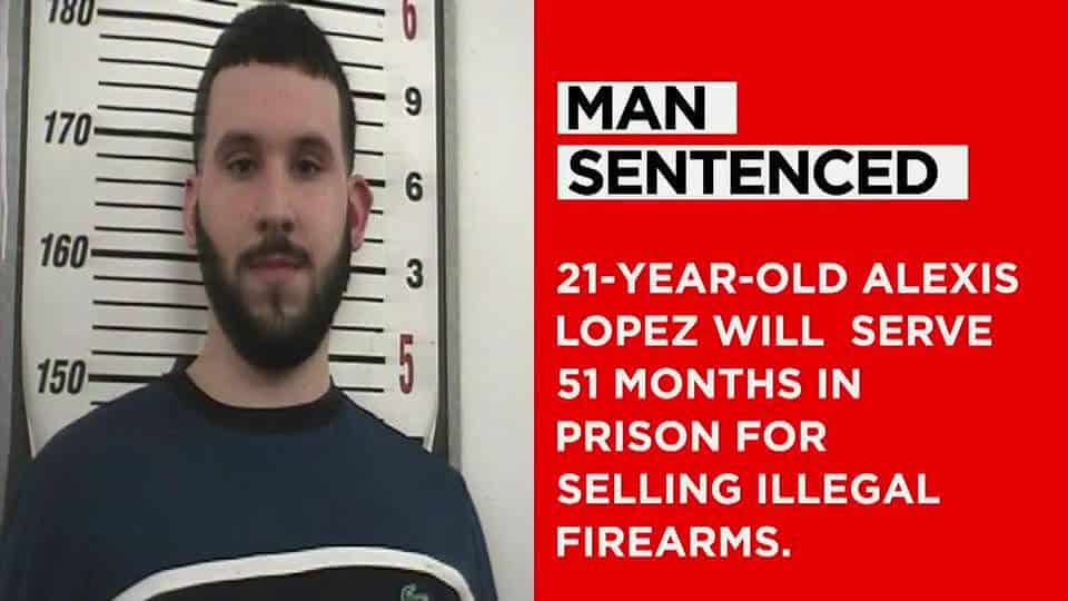 21-Year-Old Sentenced To 4 years, 3 months For Selling Firearms Illegally