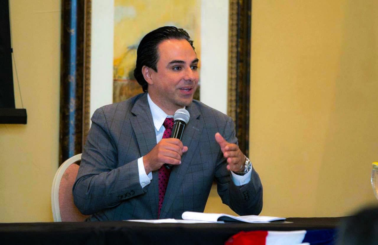 Featured: Rep. Terry Canales, D-Edinburg, addresses audience members during the Legislative Report Card Luncheon, sponsored by the Rio Grande Valley Hispanic Chamber of Commerce, and held at the Cimarron Country Club in Mission on Thursday, August 16, 2018. Photograph By LUIS LARRAGA