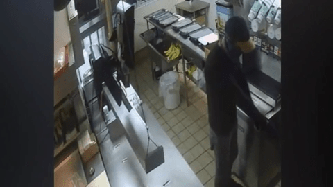 Authorities Search For Bandana Clad Robbery Suspect