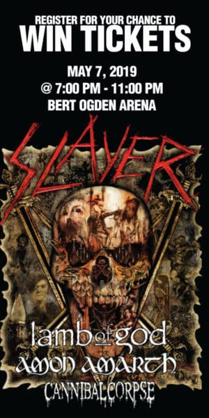 Register for your chance to win tickets to see Slayer - Final World Tour
