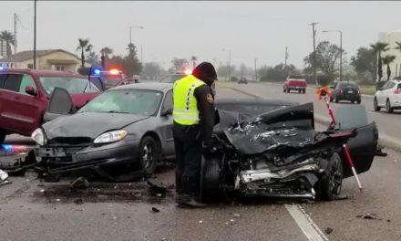 Five People In Hospital Following Three-Vehicle Crash