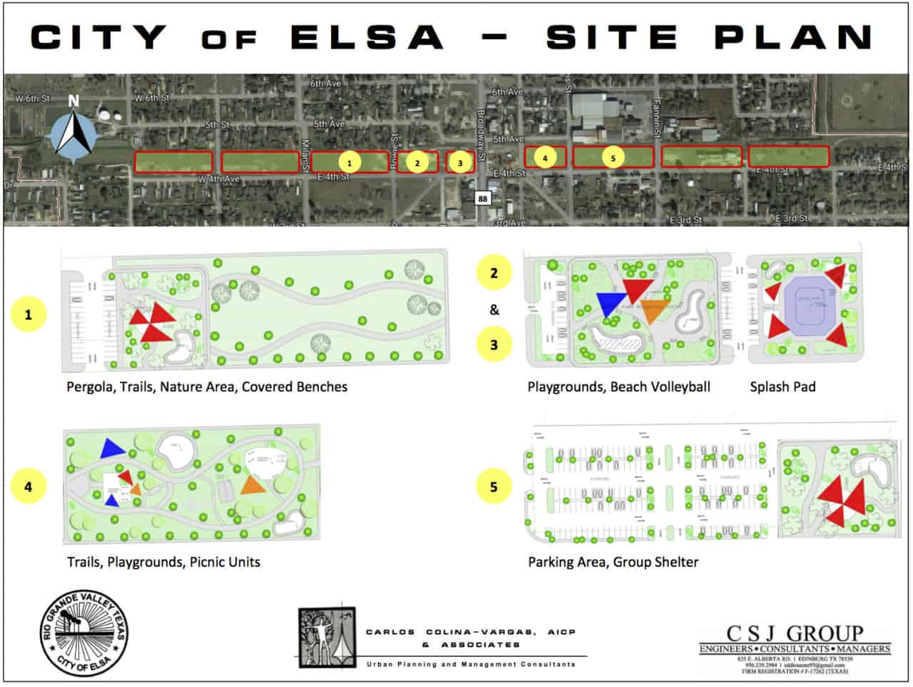 A layout of the planned $1.25 million City of Elsa Community Trail Park, which received a $500,000 grant from the Texas Parks and Wildlife Commission on  Wednesday, March 20, 2019, according to Rep. Terry Canales, D-Edinburg. The City of Elsa is part of Canales' House District 40.  Graphics Courtesy TEXAS PARKS AND WILDLIFE COMMISSION