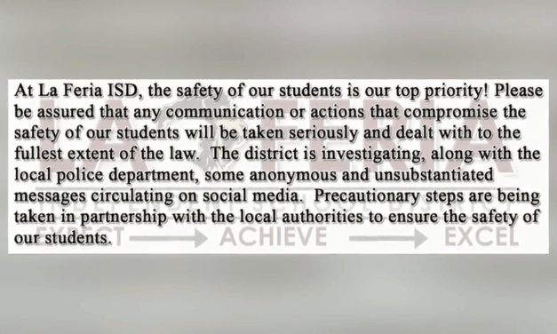 La Feria ISD Officials Investigate Alleged Threat