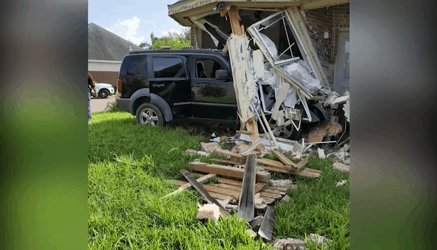 Shooting Causes Vehicle To Crash Into Home, Suspects Wanted