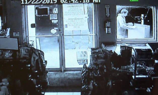 Meat Market Robbery Suspect Caught on Surveillance