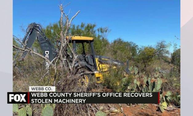 Webb County Sheriffs Recover Stolen Backhoe