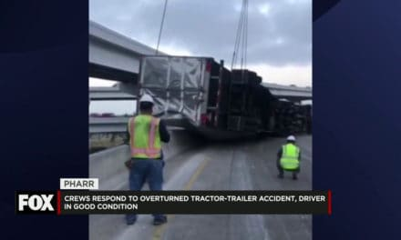 Overturned Tractor-Trailer Stops Traffic on 281 Interchange