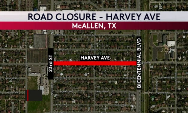 Harvey Ave in McAllen Closed for Drainage Improvement