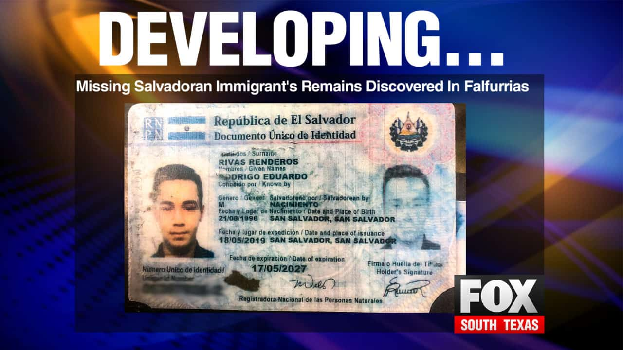 Missing Salvadoran Immigrant's Remains Discovered In Falfurrias 1