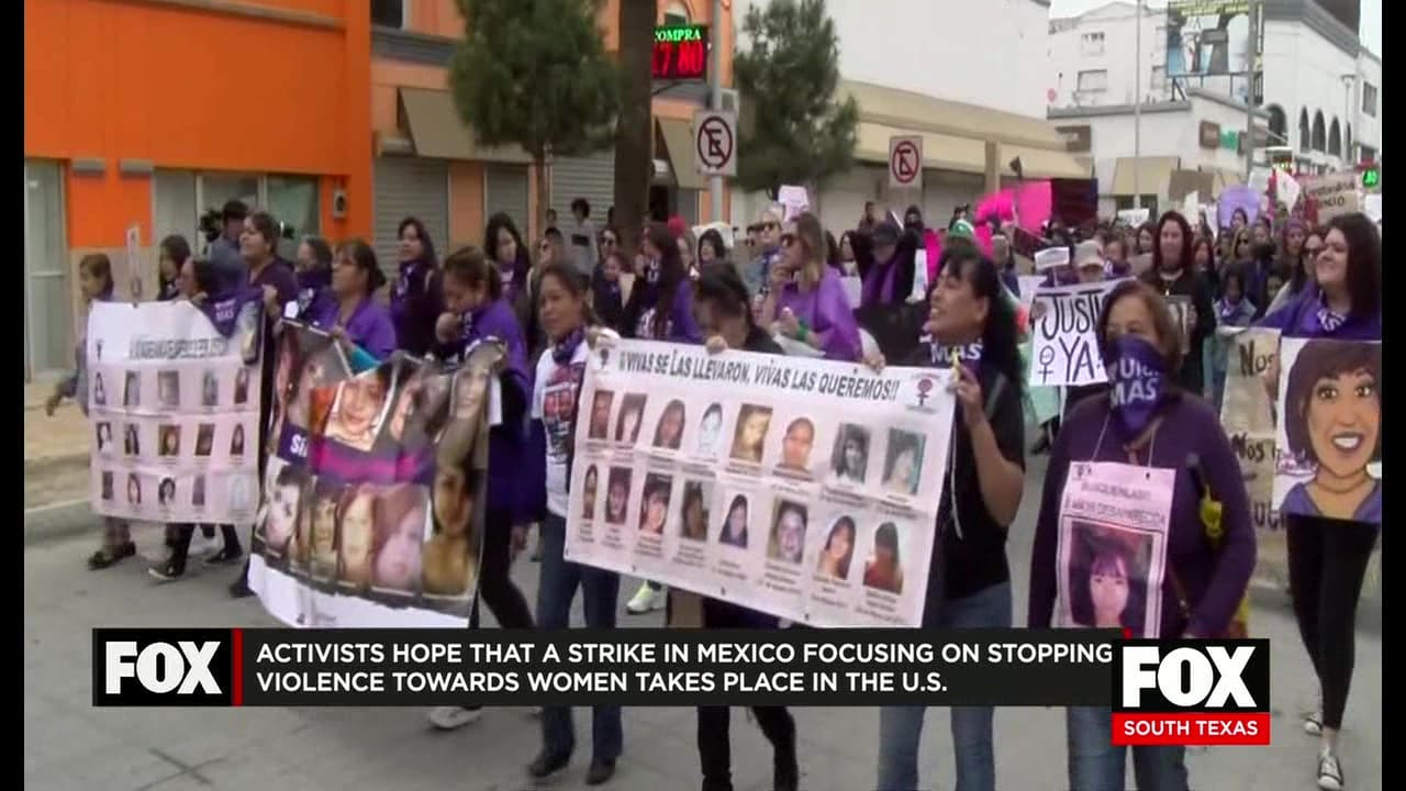 Millions of Mexican women strike to protest femicide