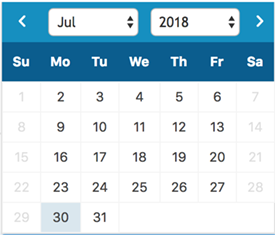 Datepicker with blackout weekends