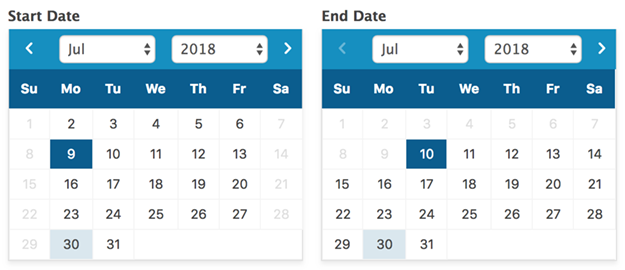 Inline datepicker