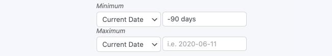 Datepicker options Restrict Minimum Maximum