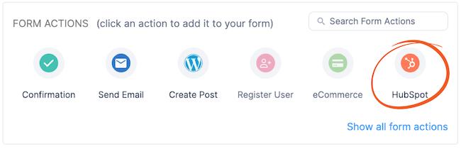 HubSpot forms API setup