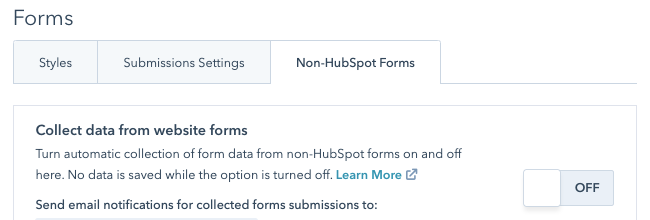 HubSpot forms missing entries