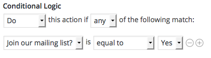 MailChimp Conditional Logic