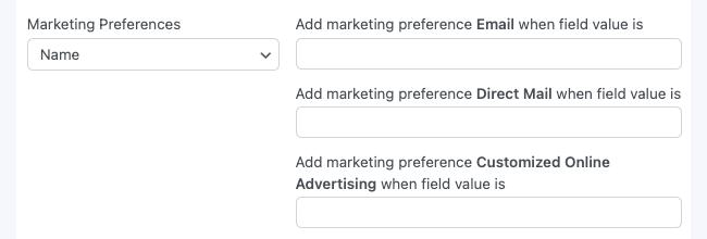 MailChimp GDPR Marketing Preferences Form