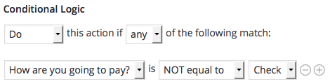 PayPal Conditional Logic