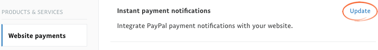 Paypal IPN Notification