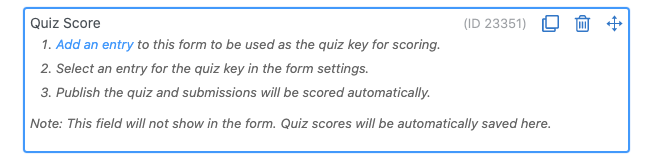 Quiz maker Add Quiz Field