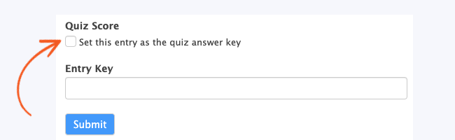 Quiz maker Set Answer Key