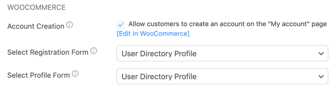 Custom WooCommerce profile form