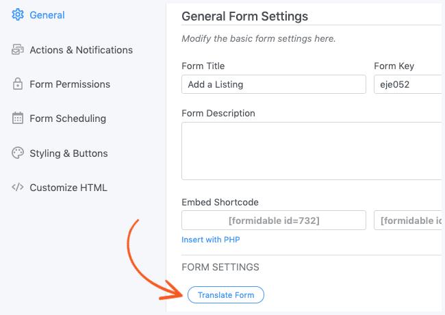 WPML Translate Form Button