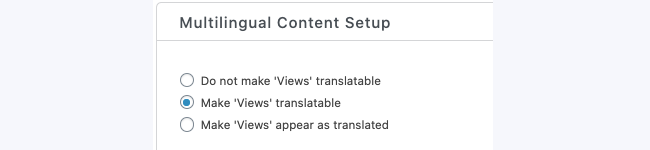 WPML Translate View Multilingual Content Setup