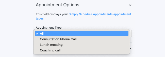 Appointment Booking Field Type