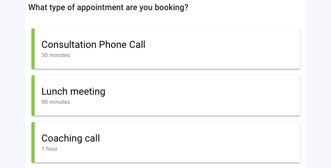 Appointment Booking Type