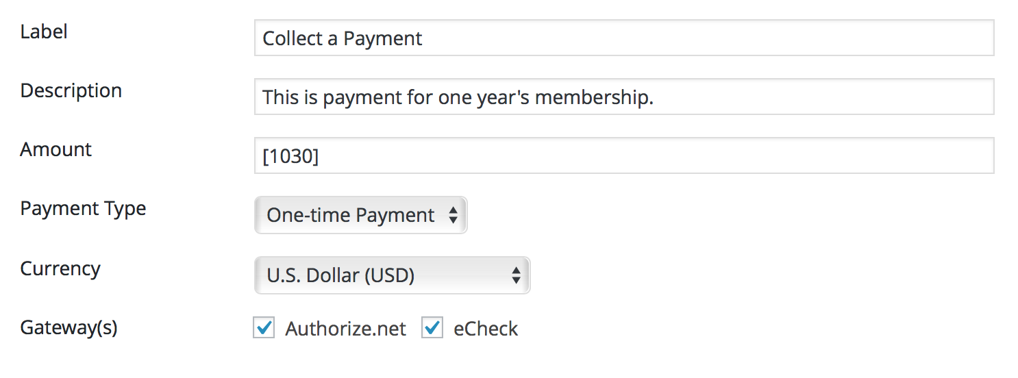 Authorize.net payment Form Action