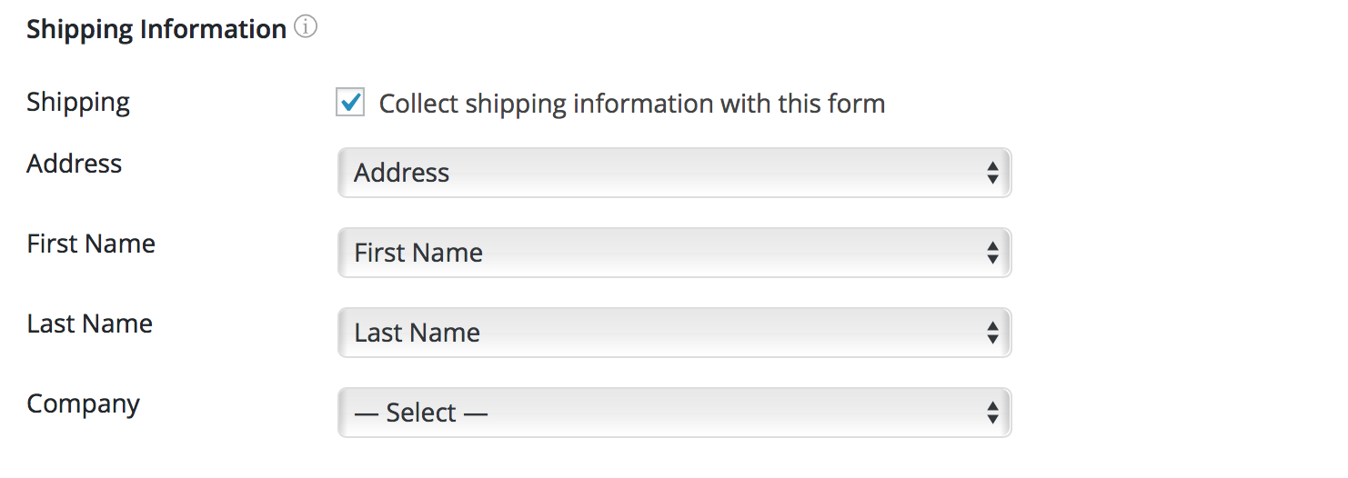Authorize.net Shipping Info