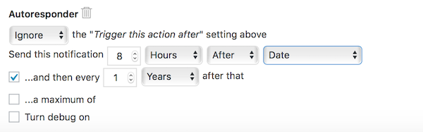 Yearly Form Action Automation