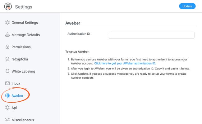 AWeber Authorization